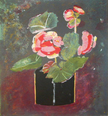Picture of Begonias by Mary Newcomb
