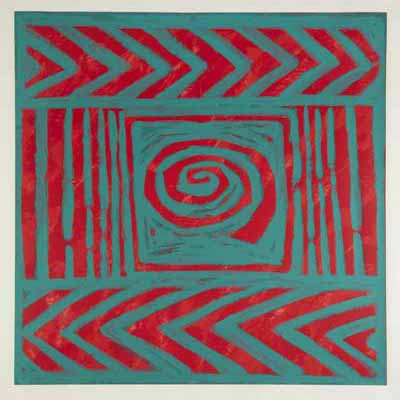Picture of Double Chevron and Spiral by Kate Whiteford