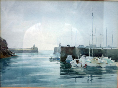 Picture of Sailing Dinghies at the Mouth of the Harbour by David Byrne