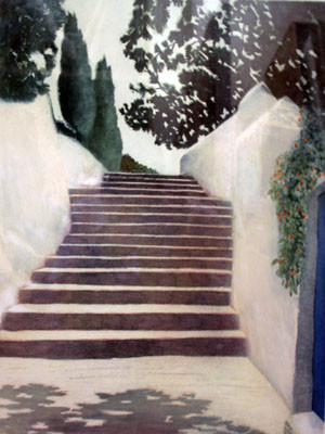 Picture of Village Steps by C. Penny