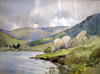 Picture of Lochside and Trees by David Byrne