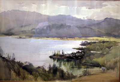 Picture of Lochside and Trees II by David Byrne