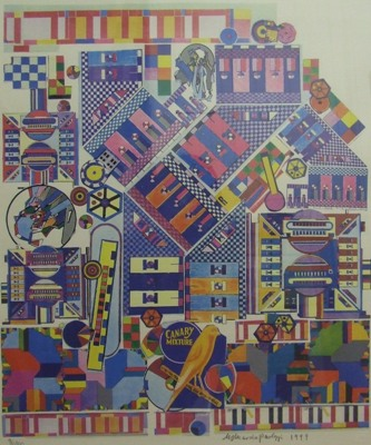 Picture of Canary Mixture by Eduardo Paolozzi