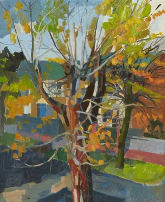 Picture of Trees in Autumn by Jenny Calver