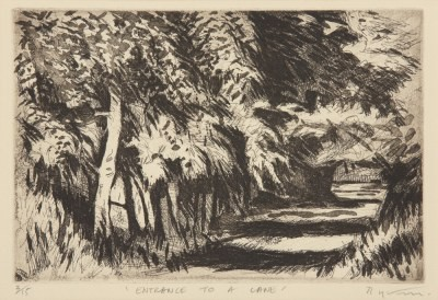 Picture of Entrance to a Lane by Alfons Bytautas