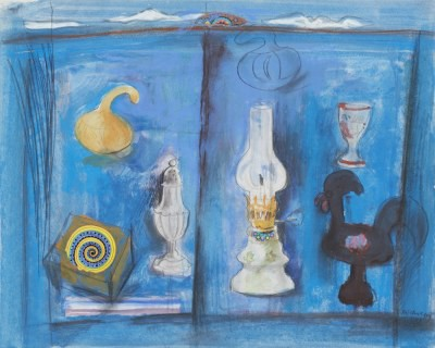 Picture of Oil Lamp and Catherine Wheel by David McClure