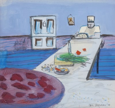 Picture of Kitchen Scene, Crete by Glen Scouller
