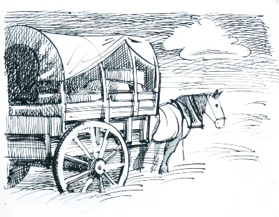 Picture of Horse & Cart by Marjorie I Campbell