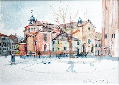 Picture of The Red Church by Marjorie I Campbell