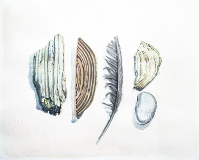 Picture of One Feather & Four Stones by Marjorie I Campbell