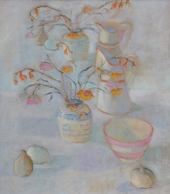 Picture of Flowers and Jugs by June Miles