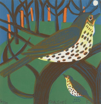 Picture of Thrushes by Kittie Jones
