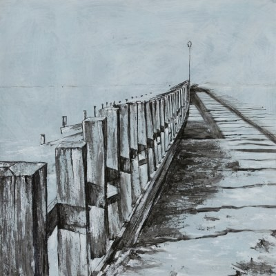 Picture of Breakwater Series No 6 by Lindsey Lavender