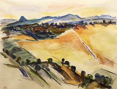 Picture of Sugarloaf, Volterra by Stephen Cohn