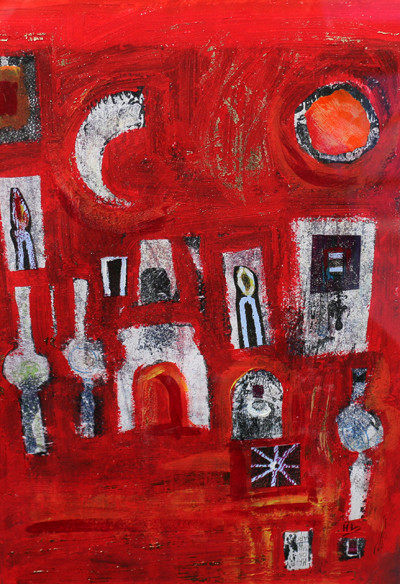 Picture of Barga in Red by Heather Lucchesi