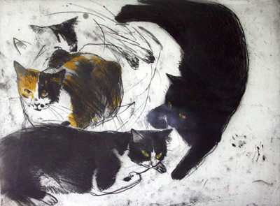 Picture of Cats by Elizabeth Blackadder