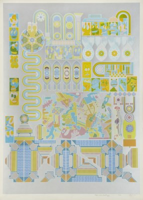 Picture of Who Is Afraid Of Sugar Pink & Lime Green? by Eduardo Paolozzi