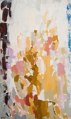 Picture of Abstract Pink and Brown by George Melhuish