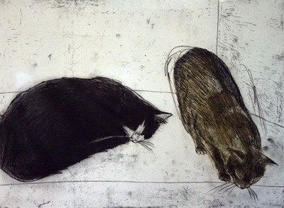 Picture of Fred and Rosie by Elizabeth Blackadder
