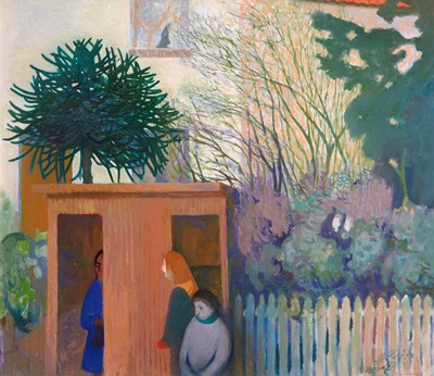 Picture of The Bus Stop and the Monkey Puzzle by Gordon Cameron