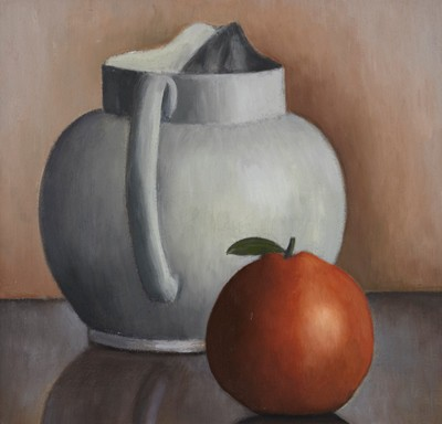 Picture of White Jug and Orange by Ruth Addinall