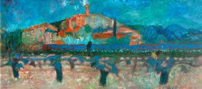 Picture of Vineyard, Sablet by Cynthia Wall