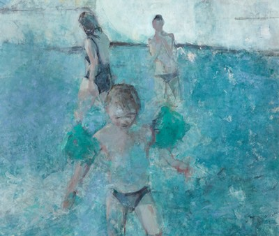 Picture of Boy with Armbands by Damian Callan