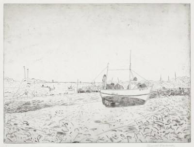 Picture of Boat by Elizabeth Blackadder