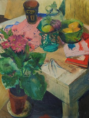Picture of Still Life in Pink and Green by Marjorie Noel Slaney