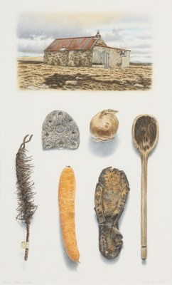 Picture of Carrots Onions and Rust by Reinhard Behrens
