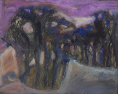 Picture of Landscape With Trees by Marjorie Stark