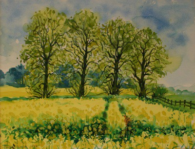 Picture of 4 Lime Trees near Milnathort by Margaret Mitchell