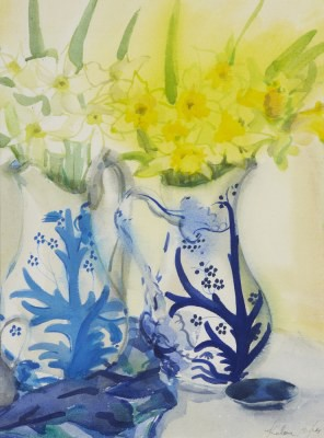 Picture of Daffodils in Tree of Life Jugs by Kalene Douglas