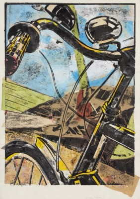 Picture of Bicycle and Umbrella by Duncan Pettigrew