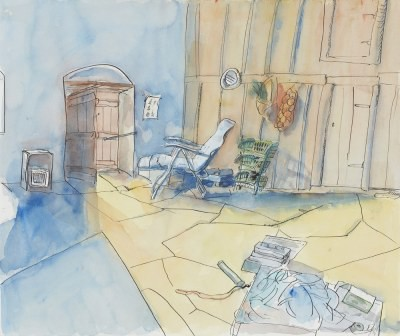 Picture of The Artist's Room in Ayios by Sylvia Woodcock-Clarke