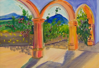 Picture of Three Spanish Arches by Jila Peacock