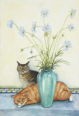 Picture of Nina & Jasper with Scabius by Gill Smith