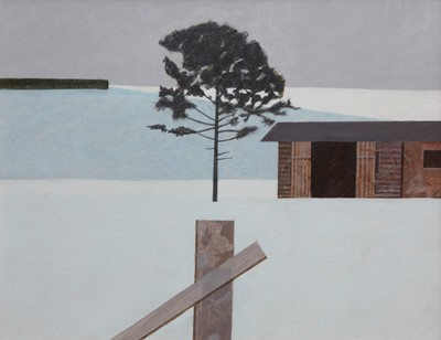 Picture of Tree and Sheds by James H. Fairgrieve
