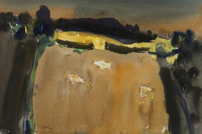Picture of Landscape With Cattle by Archie Sutter Watt