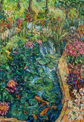 Picture of The Garden Pond by Vivien Alexander