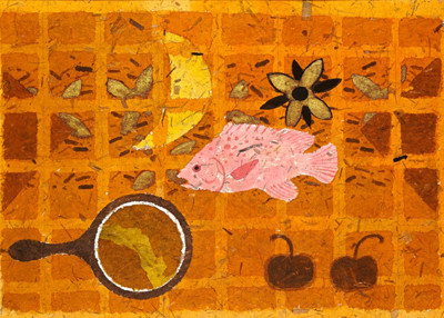 Picture of Pink Fish, Yellow Moon by William Littlejohn