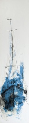 Picture of Fishing Boat, Blue by Sarah Carrington