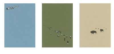 Picture of Migration (Penguins/Humans/Bison) by Kenneth Wilson