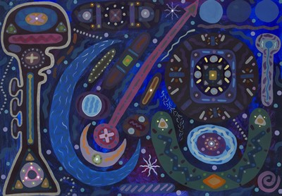 Picture of Nocturnal Moon II by Johnny McGuinness