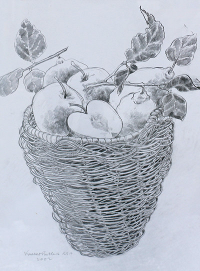 Picture of Basket of Fruit by Vincent Butler