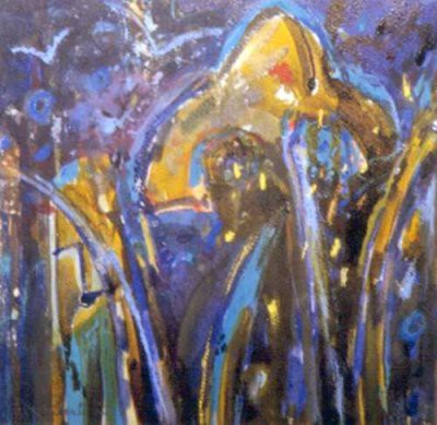 Picture of Irises by Joan Renton