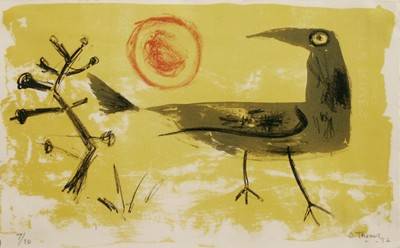 Picture of Bird, Tree and Red Sun by Colin Thoms