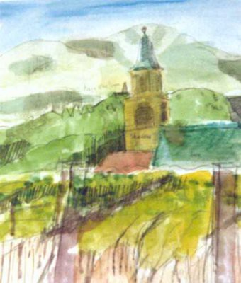 Picture of Church, Auer, Sud Tirol by Roy Wood