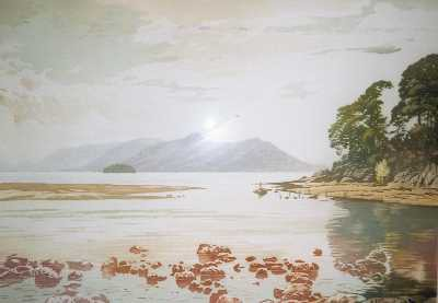 Picture of Bright Clouds, Derwentwater by Simon Bull