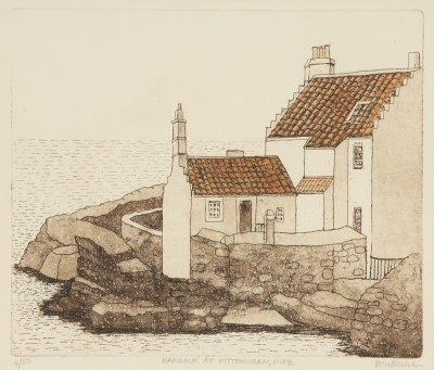 Picture of Harbour at Pittenweem by Beatrix Blake